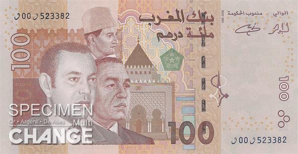 100 dirhams marocains (MAD)