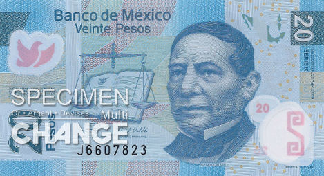20 pesos mexicains (MXN)
