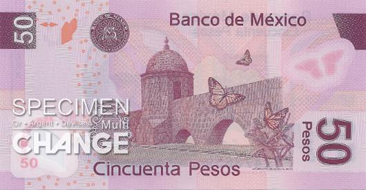 50 pesos mexicains (MXN)
