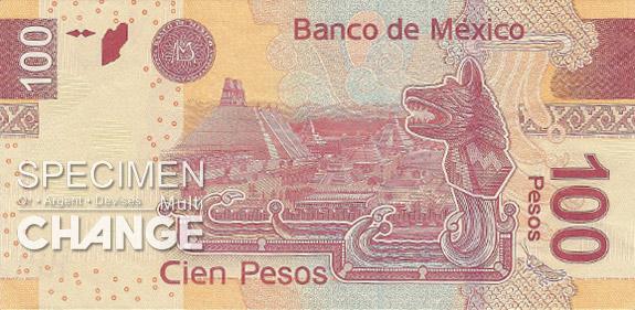 100 pesos mexicains (MXN)