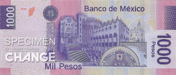1.000 pesos mexicains (MXN)