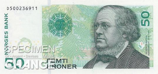 50 couronnes norvégiennes (NOK) recto
