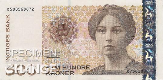 500 couronnes norvégiennes (NOK) recto
