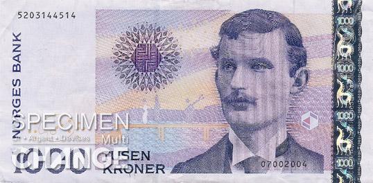 1.000 couronnes norvégiennes (NOK) recto