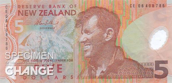 5 dollars néo-zélandais (NZD)