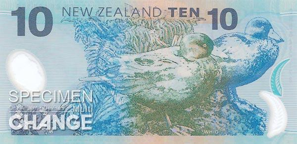 10 dollars néo-zélandais (NZD)