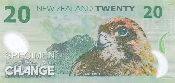 20 dollars néo-zélandais (NZD)