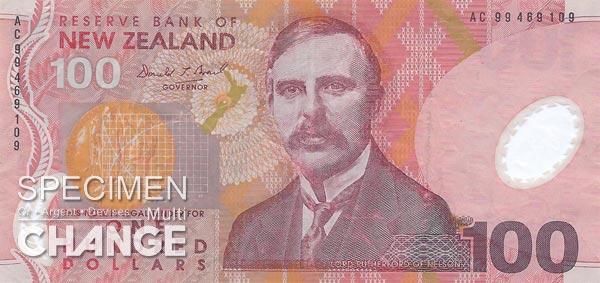 100 dollars néo-zélandais (NZD)