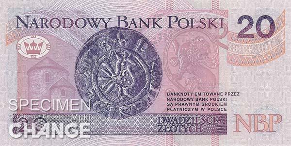 20 złoty polonais (PLN)