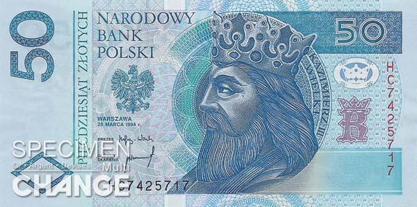 50 złoty polonais (PLN)