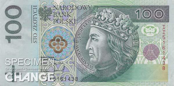 100 złoty polonais (PLN)