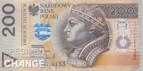 200 złoty polonais (PLN)