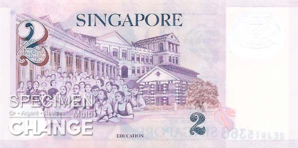 2 dollars singapouriens (SGD)