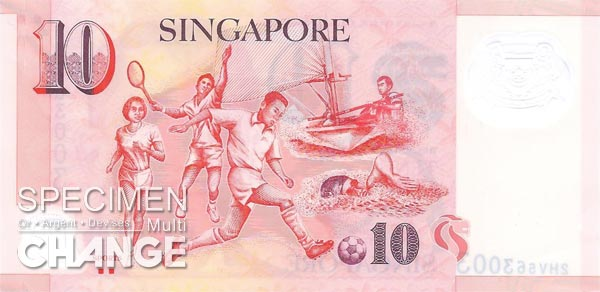 10 dollars singapouriens (SGD)
