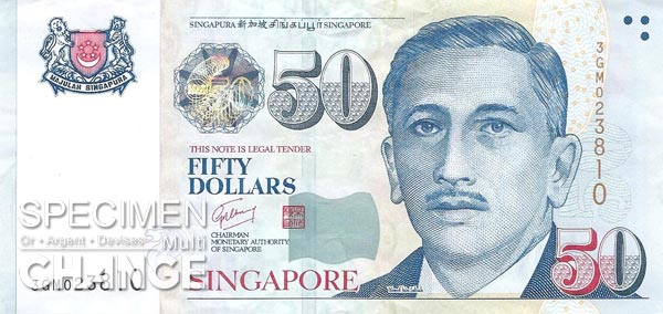 50 dollars singapouriens (SGD)