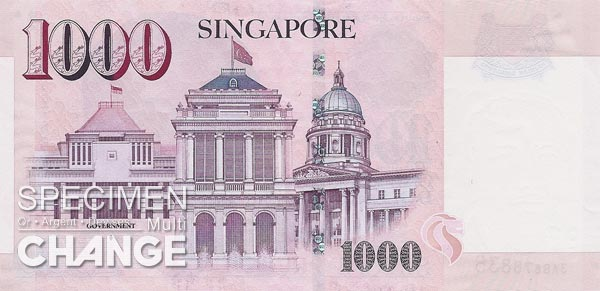 1.000 dollars singapouriens (SGD)