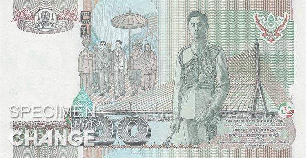 20 bahts thailandais (THB)
