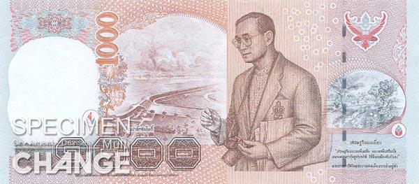 1.000 bahts thailandais (THB)