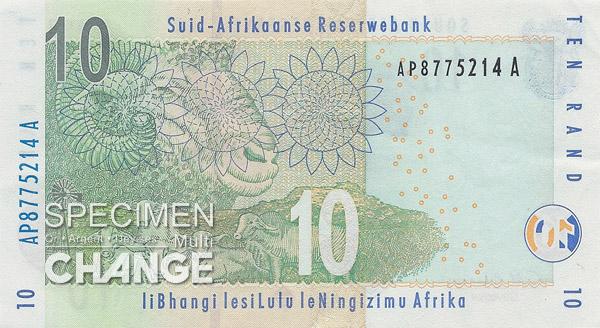 10 rands sud-africains (ZAR)