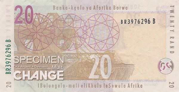 20 rands sud-africains (ZAR)