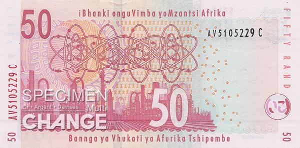 50 rands sud-africains (ZAR)