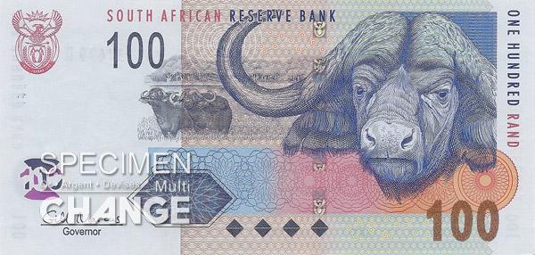 100 rands sud-africains (ZAR)
