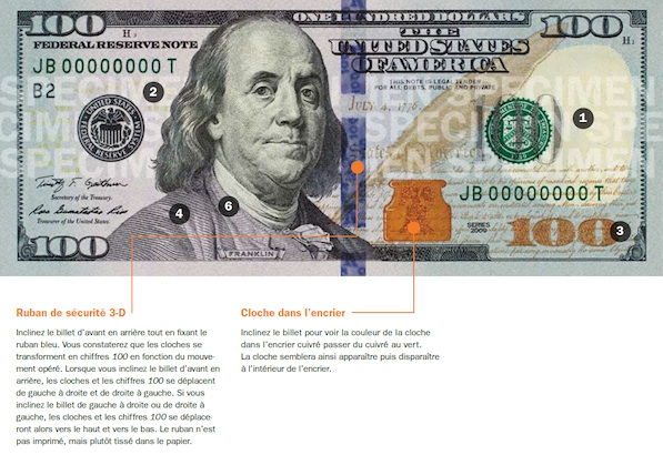 Nouveau billet de 100 dollars am�ricains
